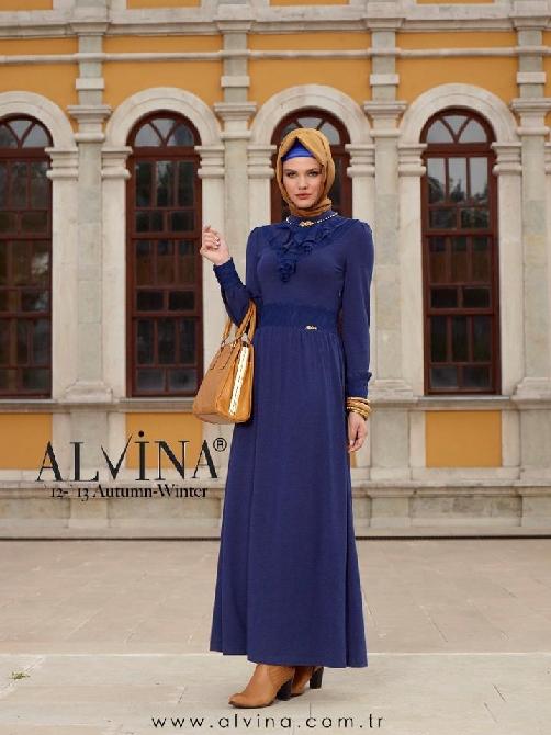 alvina elbise , alvina , alvina elbise modelleri , tesettür elbise