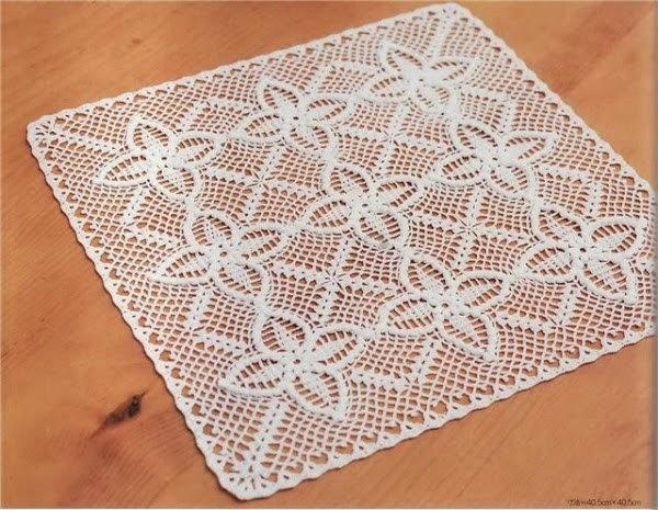 Patrones de Carpetas de Crochet Amo el Crochet Carpeta