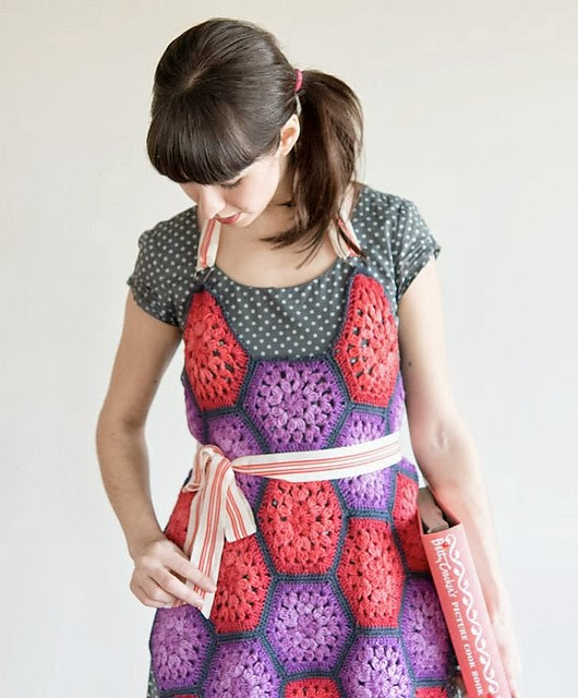 free crochet pattern hexagon apron