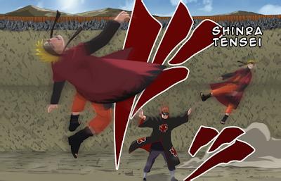 Jurus-jurus di Naruto Yang Berguna Untuk Kehidupan Sehari-hari, shinra tensei, jurus pain akatsuki, ketua akatsuki, pain akatsuki, naruto vs pain, naruto sage vs pain akatsuki, pain akatsuki vs konoha, pain akatsuki nyerang konoha, manfaat shinra tensei, shinra tensei adalah, gravitasi shinra tensei, kekuatan shinra tensei, kekuatan gravitasi akatsuki