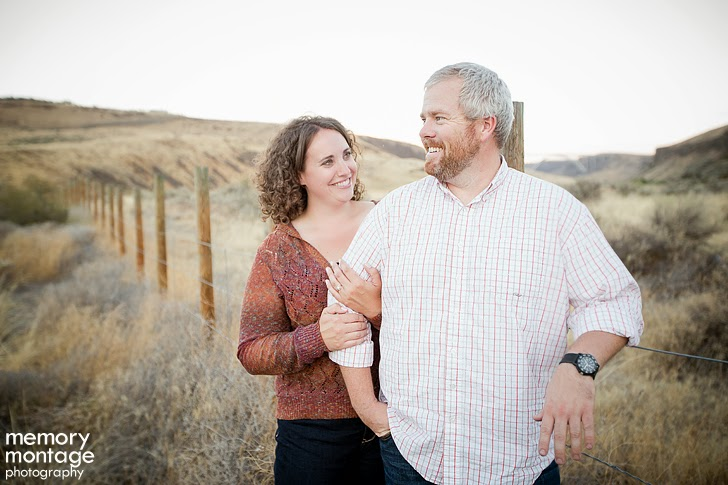 Yakima River Canyon Engagement Photo