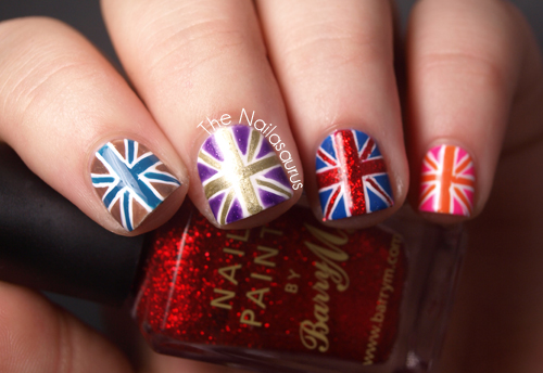 Union Jack British Flag Nail Art Tutorial