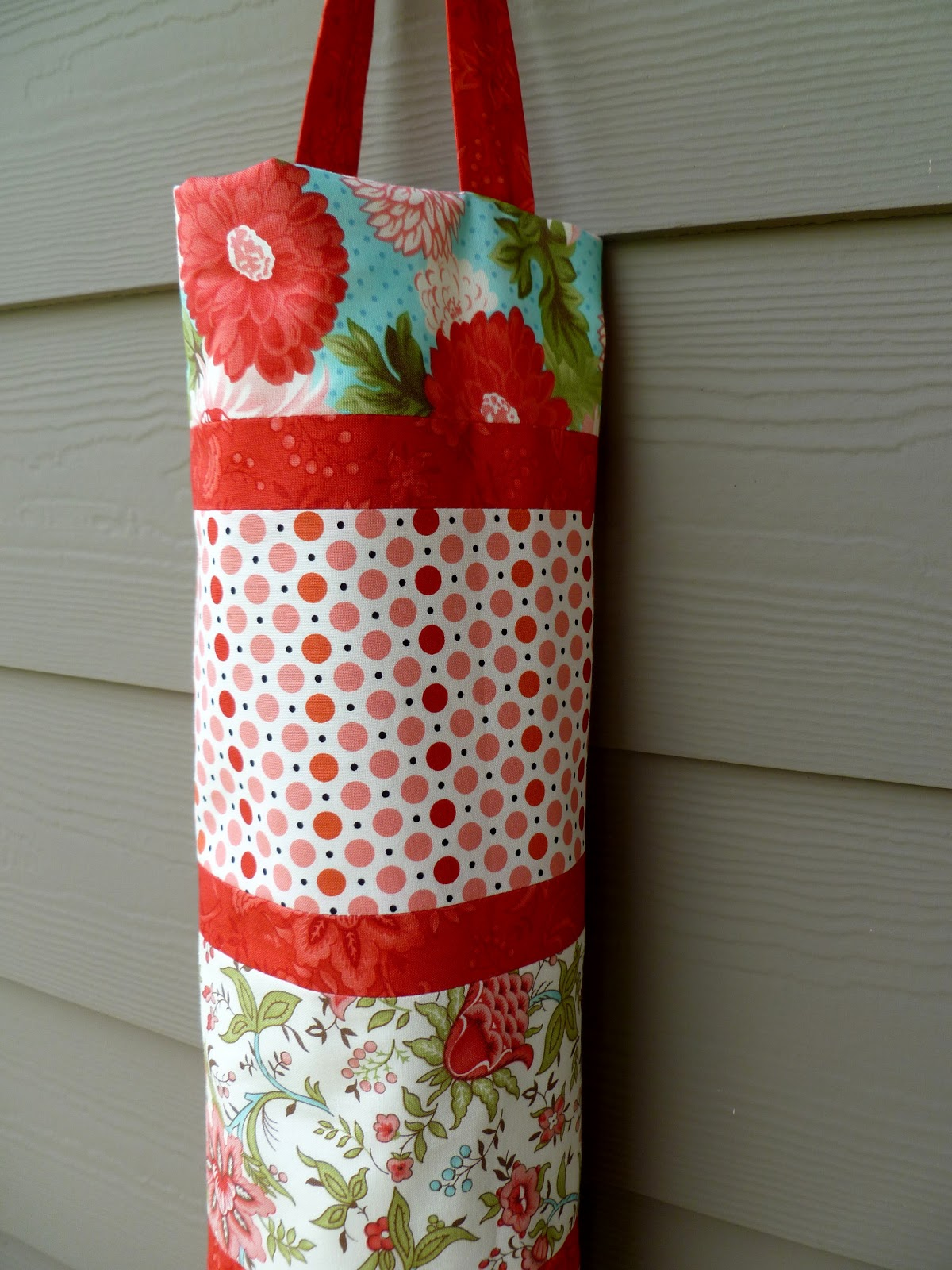 how to make a fabric bag holder for plastic bags