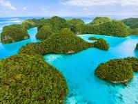 FOTO Keindahan Wisata The Rock Islands di Palau