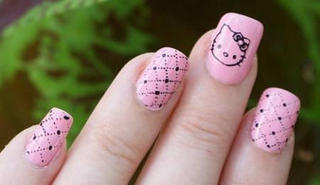 Todo Sobre Manos y Pies: Lindos Diseños de Uñas de Hello Kitty