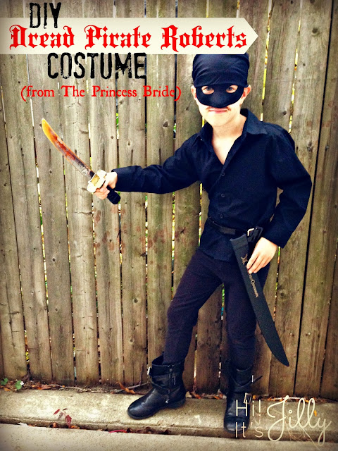 DIY Dread Pirate Roberts Costume for all you Princess Bride fans out there! From Hi! It's Jilly. #halloween #costume #theprincessbride