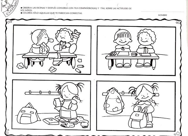 Reglas de convivencia en el aula para colorear - Imagui