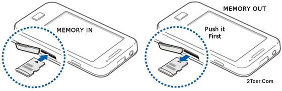 insert memory card remove microsd from its slot of samsung galaxy ace