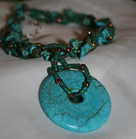Aztec Dream necklace (sterling silver, turquoise, Czech glass, copper) :: All Pretty Things