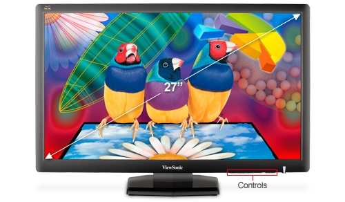Viewsonic VA2703 27 inch Class Widescreen LCD Monitor Features and