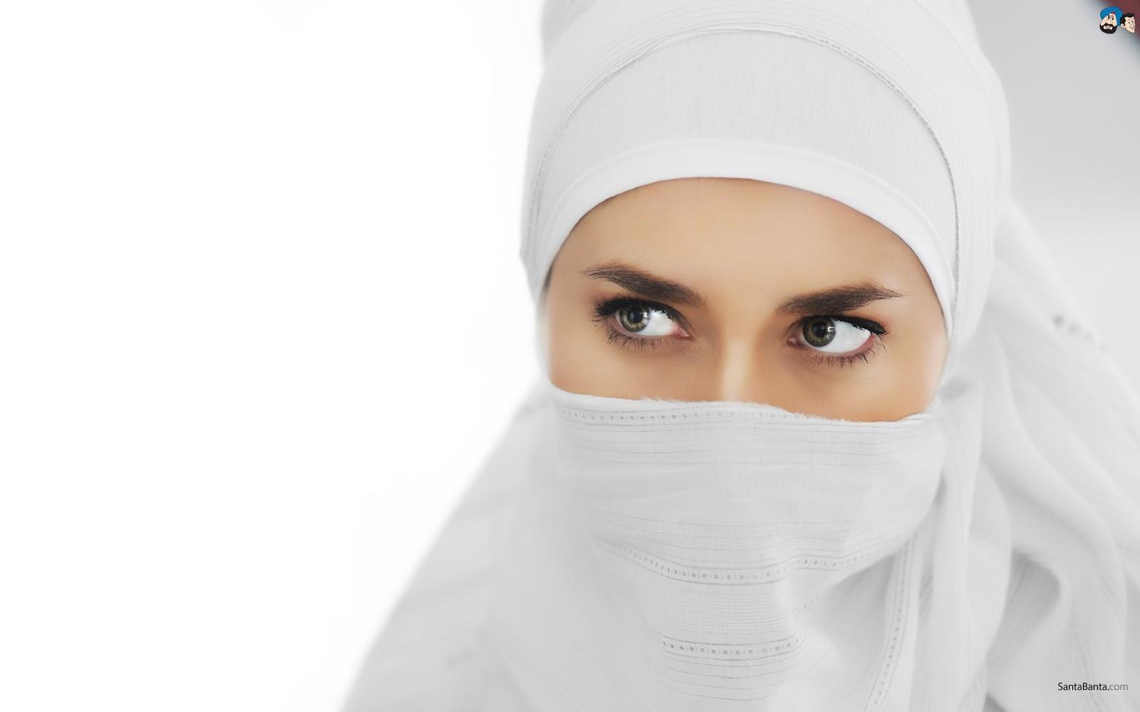 Muslimah Arab Bercadar Woman