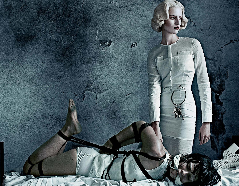 Mental hospital bondage