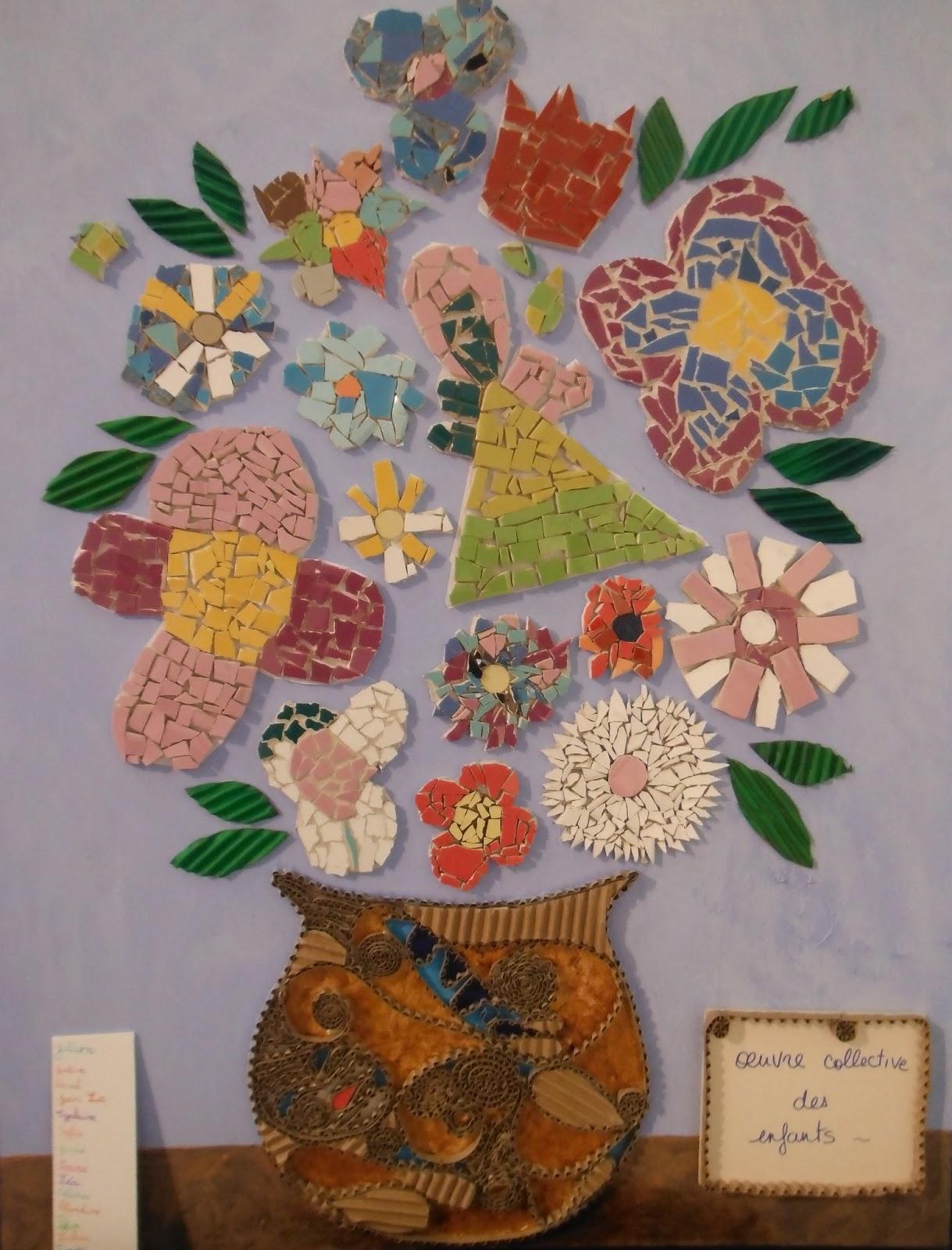 S verine peugniez ateliers d 39 arts plastiques cours de - Faire de la mosaique ...