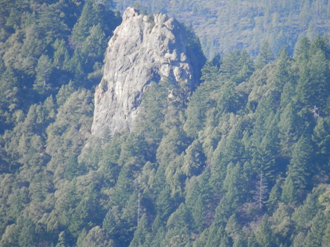 A close-up of Chimney Rock