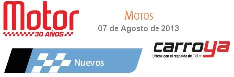 Precios Revista Motor Agosto de 2013 precios motos Nuevas revista