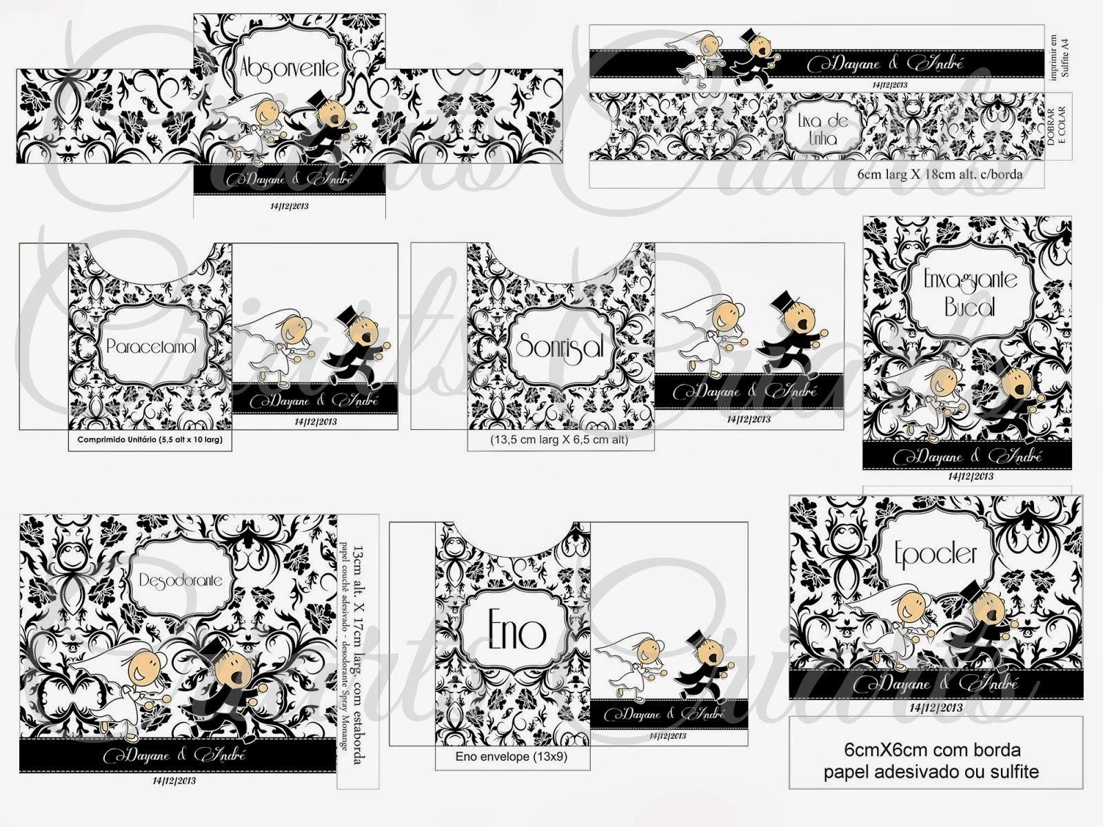 Criarts Personalizações: Kit Banheiro Preto e Branco com noivinhos #947137 1600 1200