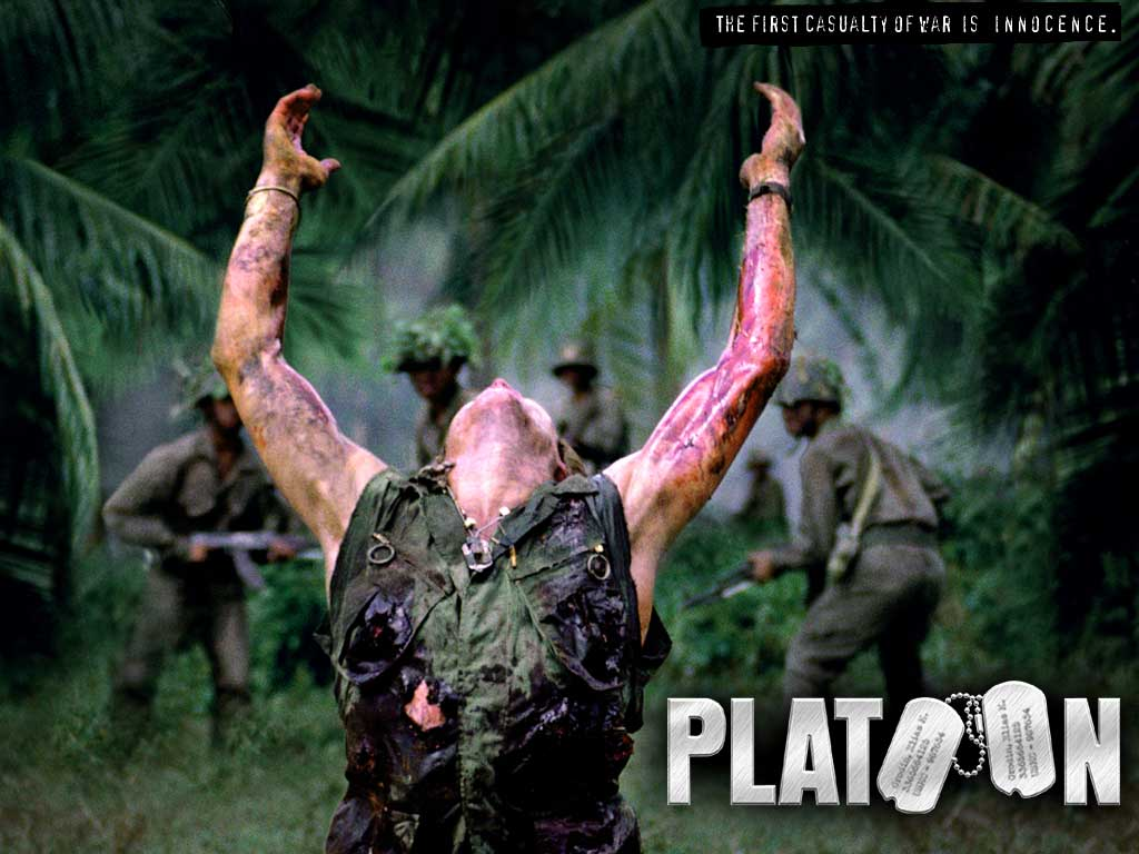 oliver stone the war film platoon Platoon left me absolutely numb after watching it oliver stone,(who in fact did serve in vietnam) did a fantastic job telling this story of the horrors and the insanity of the vietnam war what's to be admired about this film, is that stone doesn't sweet-talk the story, with the good old american boys fighting for their country and facing brutality, instead he brings up a strong morality and humanity issue.