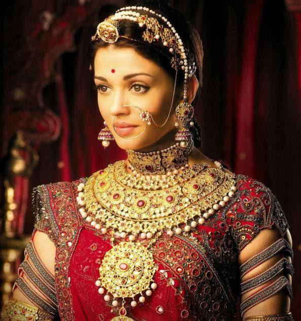 Bridal head ornament: Maang teeka or Bor or Maang Pattika