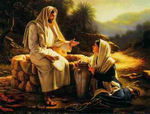 Resultado de imagem para jesus sentado no poço