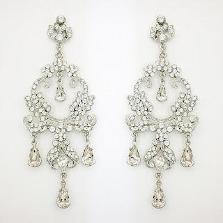 bridal earrings vintage look