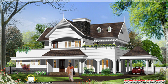 3300 square feet English/european style house in Kerala - May 2012