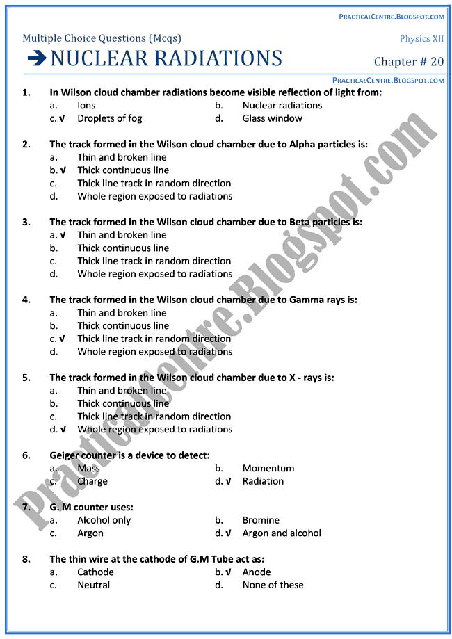 nuclear-radiations-mcqs-physics-12th