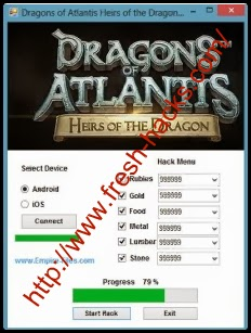 How to use Dragons of Atlantis Heirs of the Dragon Hack Android/IOS :