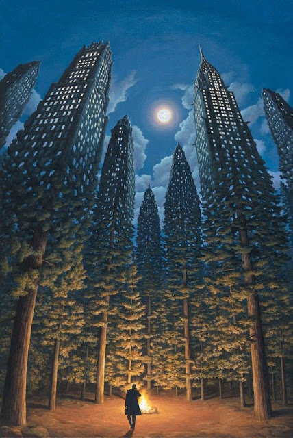 optical illusion paintings by Rob Gonsalvez