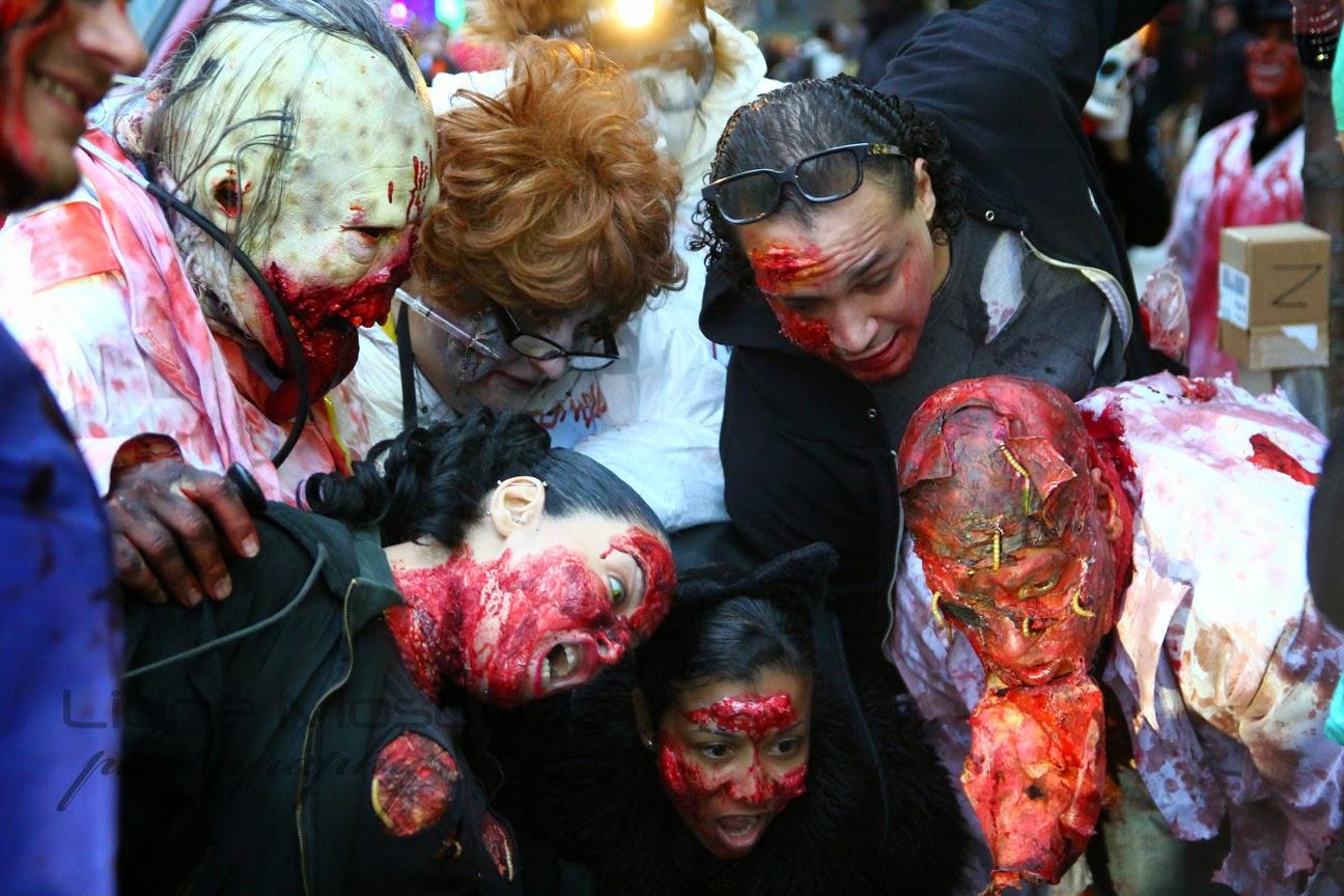 2014 New York Village Halloween parade of Manhattan, NY NY