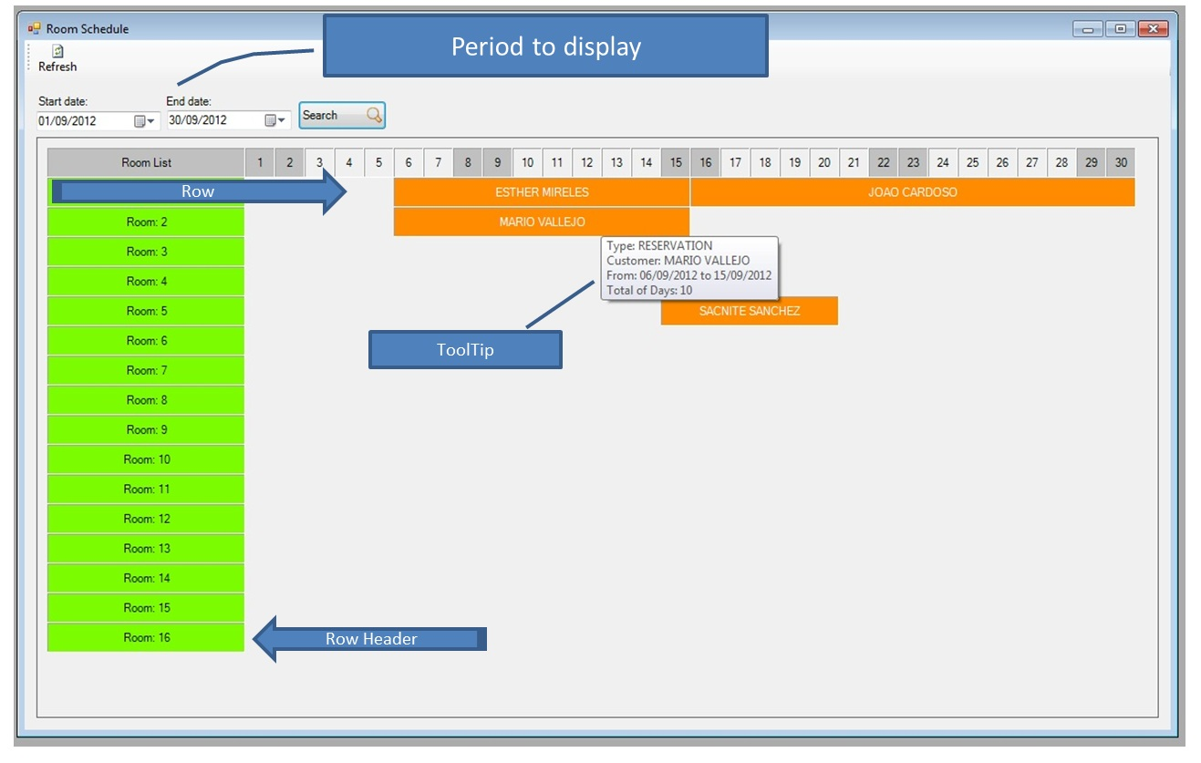 Tyrodeveloper Gantt Chart Control