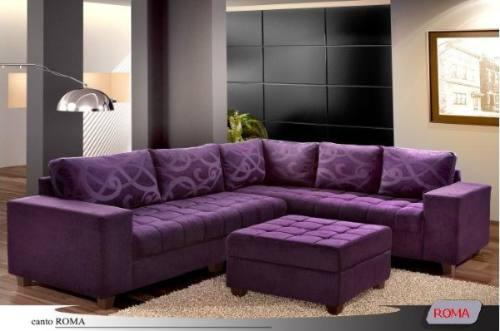 Sala De Tv Com Sofa Roxo ~ modelo de sofá q tenho em mente é mais ou menos assim