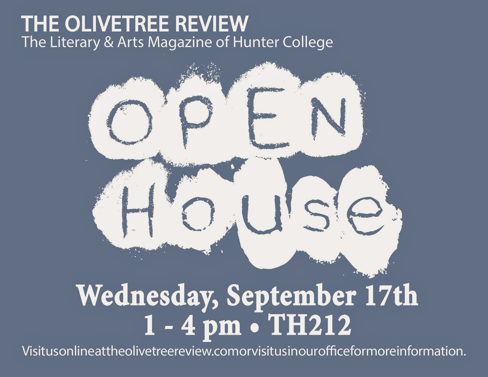 Olivetree Open House: Weds, September 17th, 1-4pm / TH212