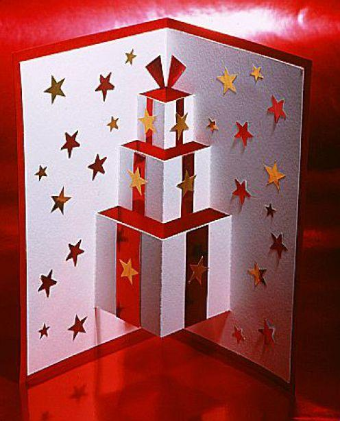 Tarjetas navideñas caseras (troquelado pop up)