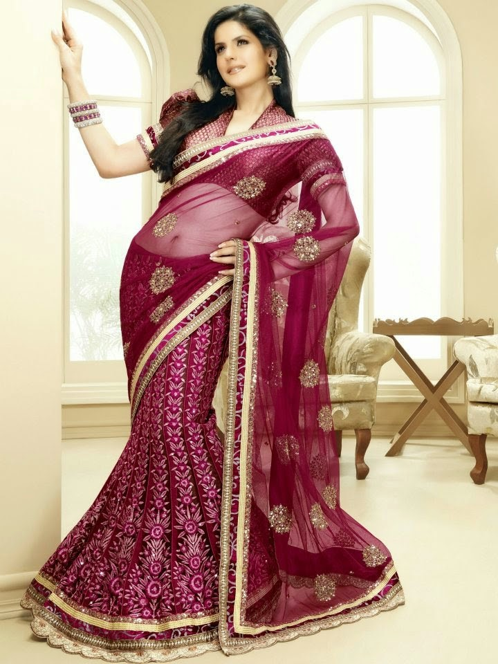 modelling photography of Zarine Khan looking hot in saree