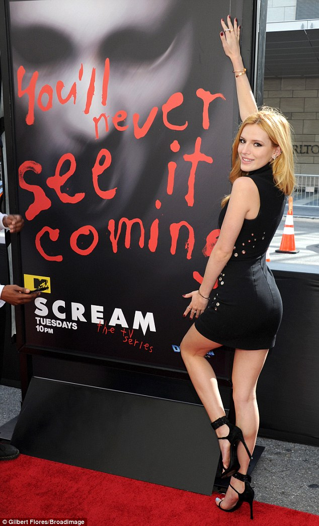 Bella Thorne wears sexy LBD to the 'Scream' LA Film Festival premiere