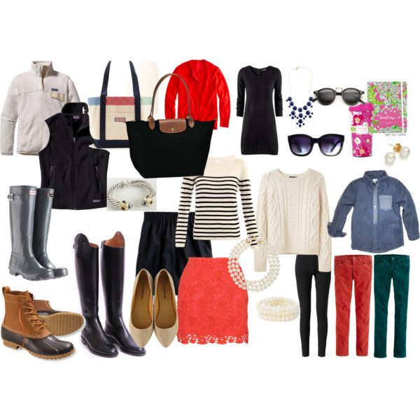 Complete set of stylish outfits for fall
