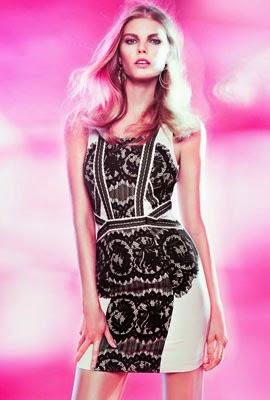vestido con encaje H&M