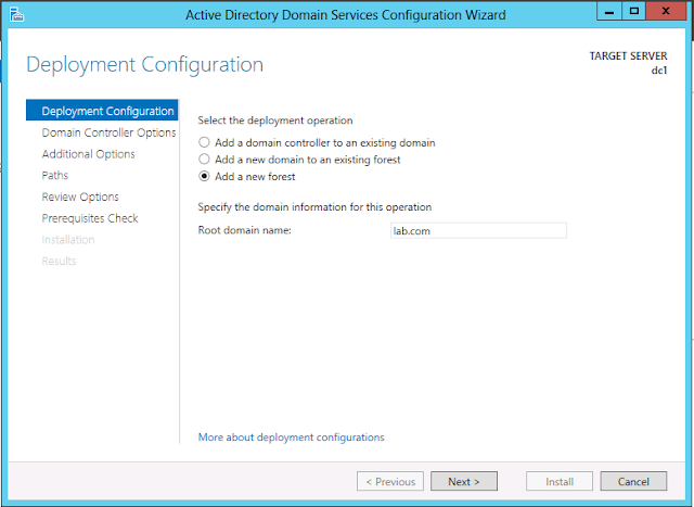 Windows Server 2012 deployment and configuration