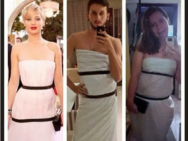 Recreate Jennifer Lawrence's Puffy White Dress and Comforters