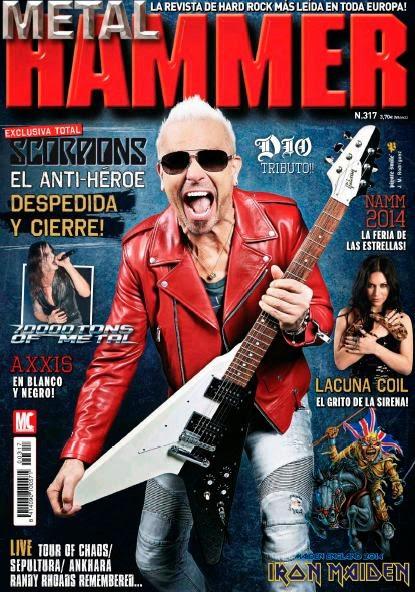 """REVISTAS """"METAL HAMMER"""" 2014 DE: ENERO - FEBRERO - MARZO - ABRIL - MAYO - JULIO"""
