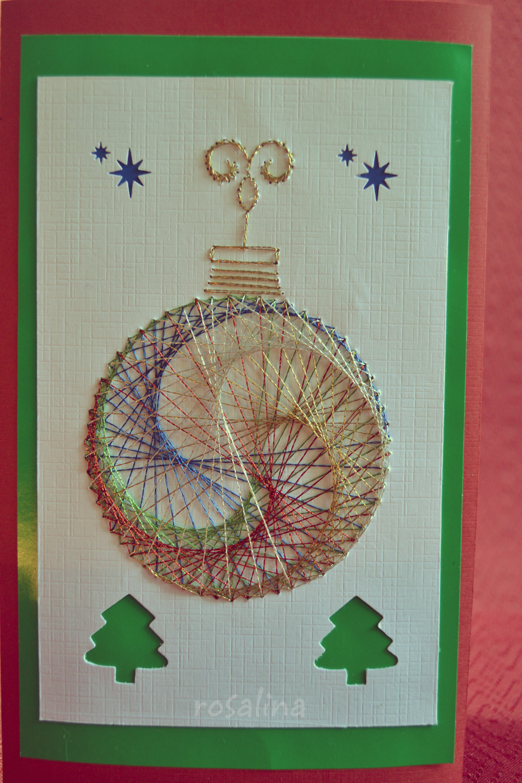 Blue cards per siguen las tarjetas bordadas a mano - Como hacer tarjetas navidenas a mano ...