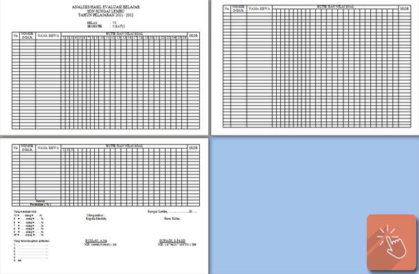 Format Analisis Hasil Evaluasi Belajar