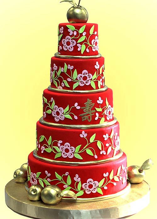 Delicious Red Wedding Cakes | Red Wedding Cakes Pictures | Red and ...