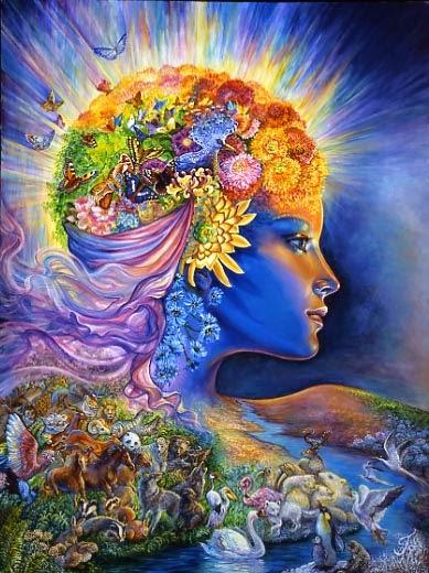 Gaia, la primera Diosa, mujer fuerte, sabia nutricia y generosa.