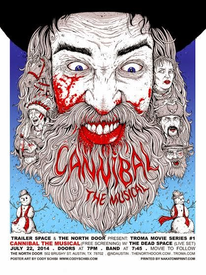 Cannibal! The Musical Screen Print by Cody Schibi