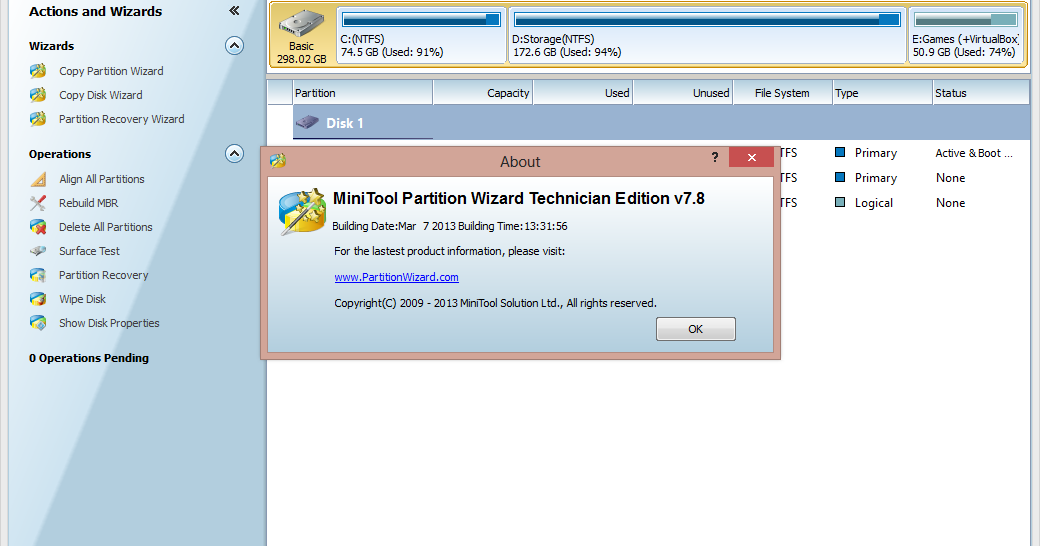Minitool partition wizard technician edition 7.8 boot builder thetazzzz : ovdielen