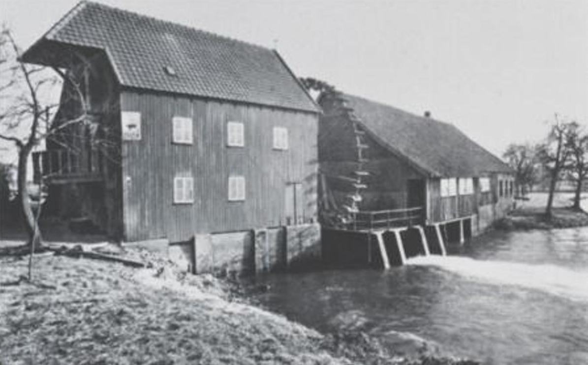 Water Mill at Opwetten Early 20th Century Photograph