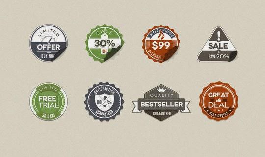Free Vintage Stickers Badges