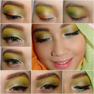 QueenaLooks The Green Floral Make Up