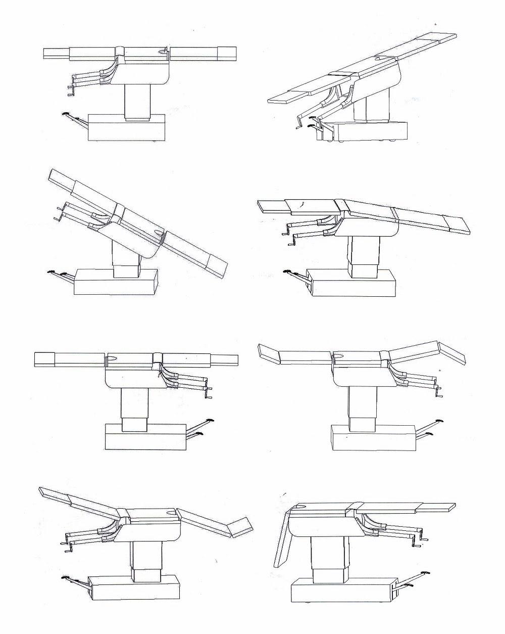 Posisi Fungsi Meja Operasi Manual 3008A